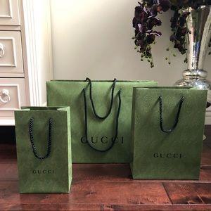 Gucci shopping bags